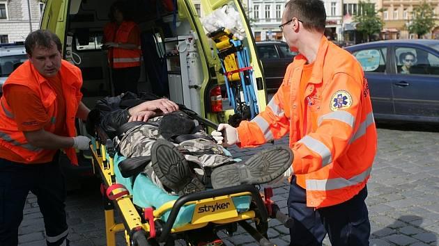 Muž zkolaboval na Karlově náměstí v Kolíně. 1.6. 2009