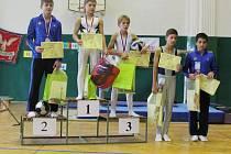 Starším žákům se ve čtyřboji dařilo. David Bega (vlevo) skončil na druhém místě, Daniel Szabó (vpravo) obsadil nakonec pátou příčku.