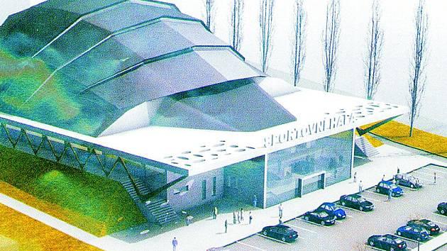 Původně plánovaná multifunkční hala v Kolíně
