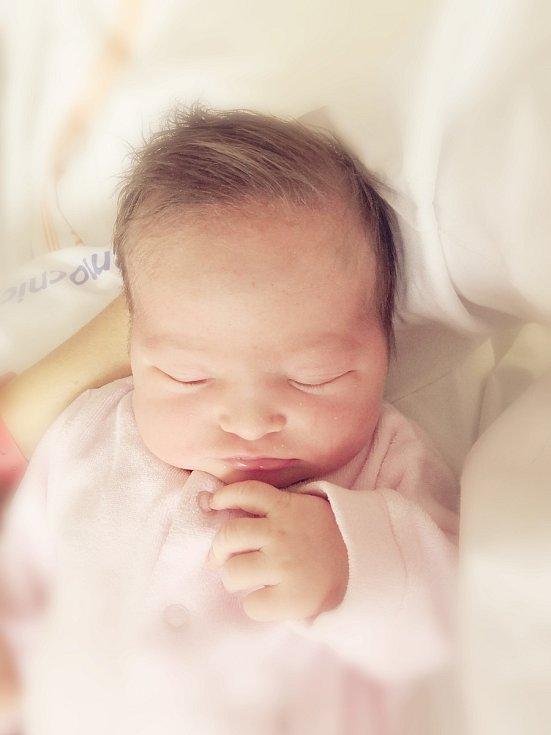 Kristýnka Hynčicová se narodila 14. ledna 2021. Doma v Radimi se na ni těší sestra Nikola, maminka Michaela a tatínek Honza