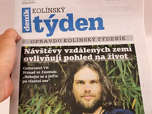 Titulní strana dvacátého pátého čísla týdeníku Kolínský týden.