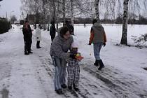 Novoroční špacír z Peček do Velkých Chvalovic