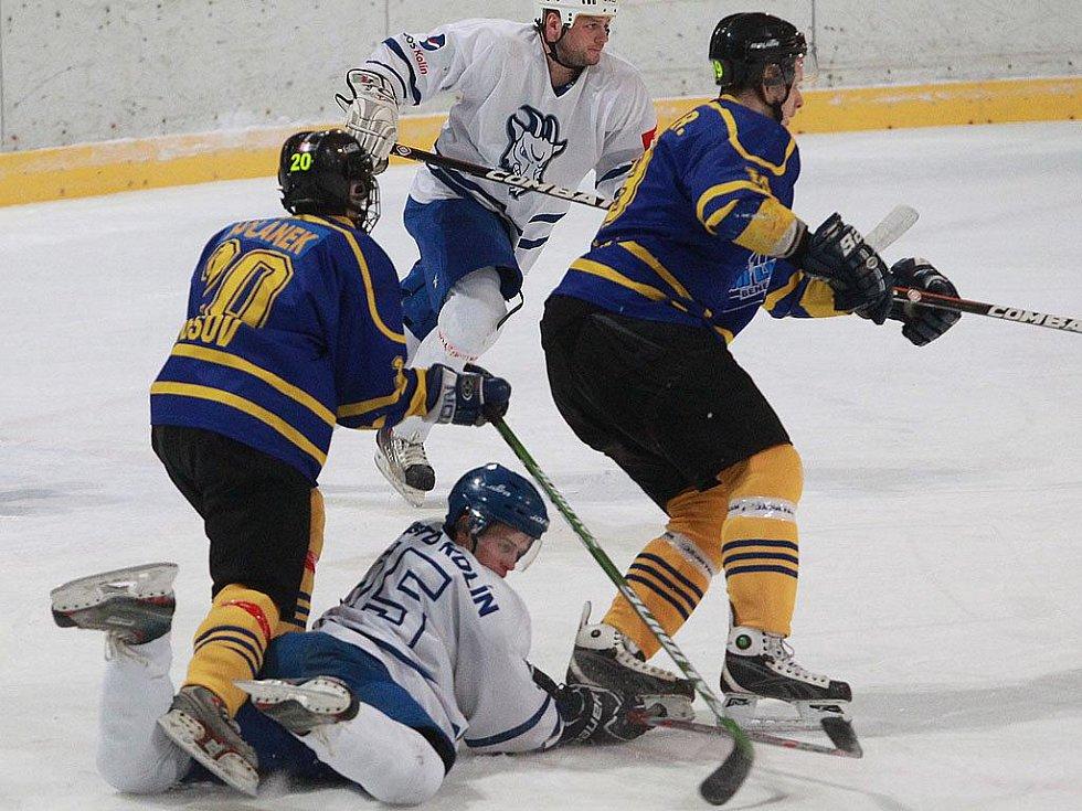 Z utkání SC Kolín - HC Benešov (1:5).
