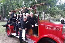 Českobrodské hasičské vozidlo Praga An, takzvaná Andulka.