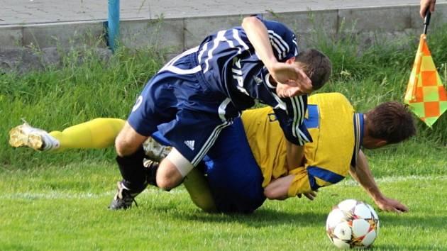 Z utkání Kouřim - Tuchoraz (1:6).