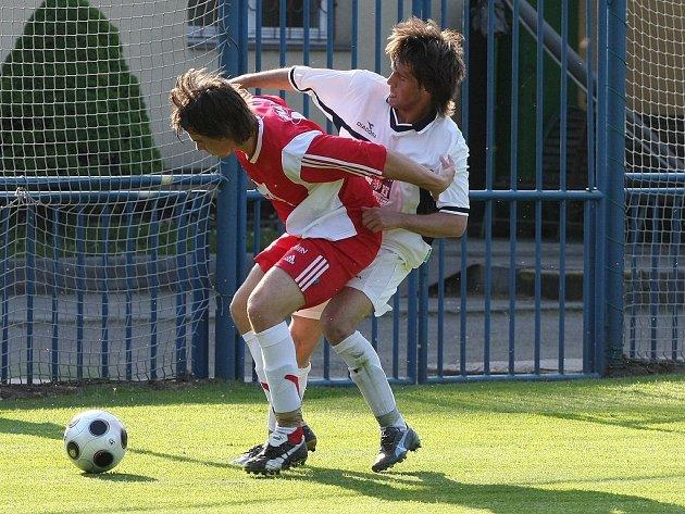 Z divizního fotbalového střetnutí Kolín - Týniště (3:0)