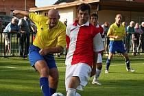 Z utkání Velim - Chrudim (0:2).