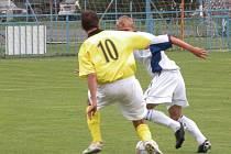 Z přípravného utkání Velim - Mladá Boleslav B (2:2).