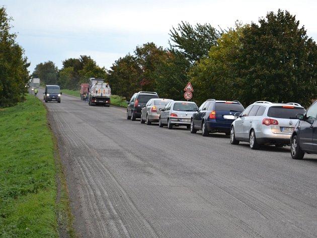 Oprava silnice Kolín - Český Brod