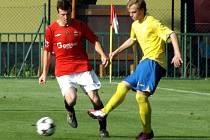 Z utkání Velim - Benešov B (1:0).