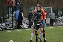 Z přípravného fotbalového utkání Kolín - Polepy (2:1)