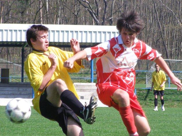 Z fotbalového divizního utkání mladšího dorostu Kolín - Choceň (8:0)