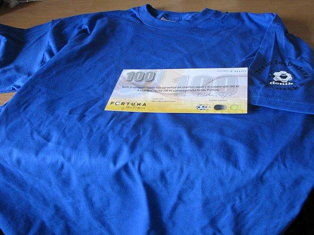 Vítěz 12. kola Jaroslav Šíp z Vrbčan získal od naší redakce tričko a kupon do sázkové kanceláře Fortuna v hodnotě 100,–Kč.