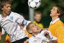 Z utkání divize starších žáků FK Kolín - Čáslav (4:1).