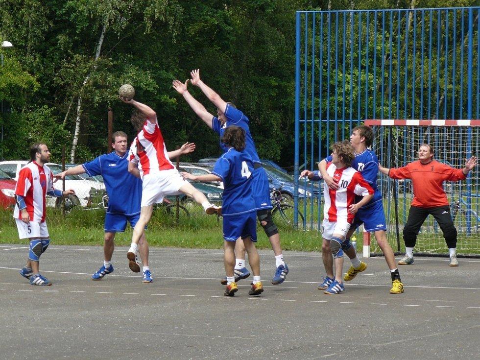 Z utkání HC Kolín B - Kutná Hora (22:26).