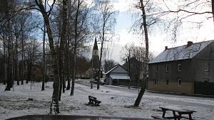 Zima v obci Lošan