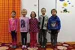 Žáci první třídy Základní školy Tatce. Třídu vede učitelka Hana Vlčková
