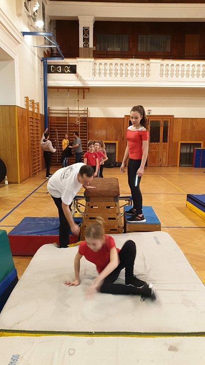 Sokolové v Českém Brodě se cvičení s dětmi věnují s mnohaletou tradicí.