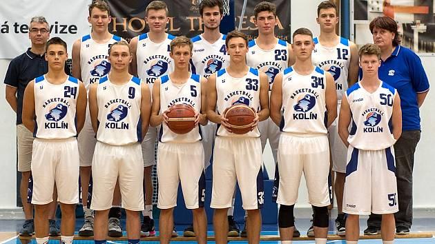 Basketbaloví kolínští junioři.