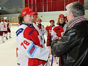 Finále české ženské hokejové ligy 2010/2011. Slavia vs Karviná (5:2 a 6:0). Slavia slaví pátý titul vřadě.