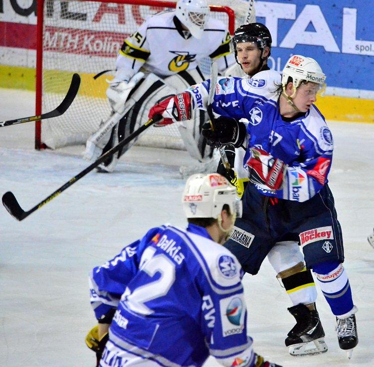 Z utkání II.NHL; Kolín - Moravské Budějovice 4:0