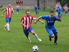 Z utkání Liblice - Bečváry (0:2).