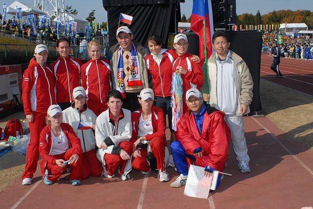 Ženské družstvo automobilky TPCA na finále běhu Ekiden.