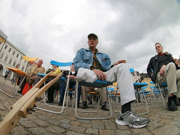 Prvomájová oslava Svátku práce na Karlově náměstí v Kolíně