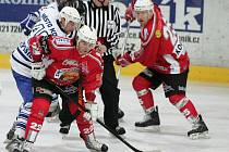 Z hokejového utkání druhé ligy Kolín - Klatovy (2:6)