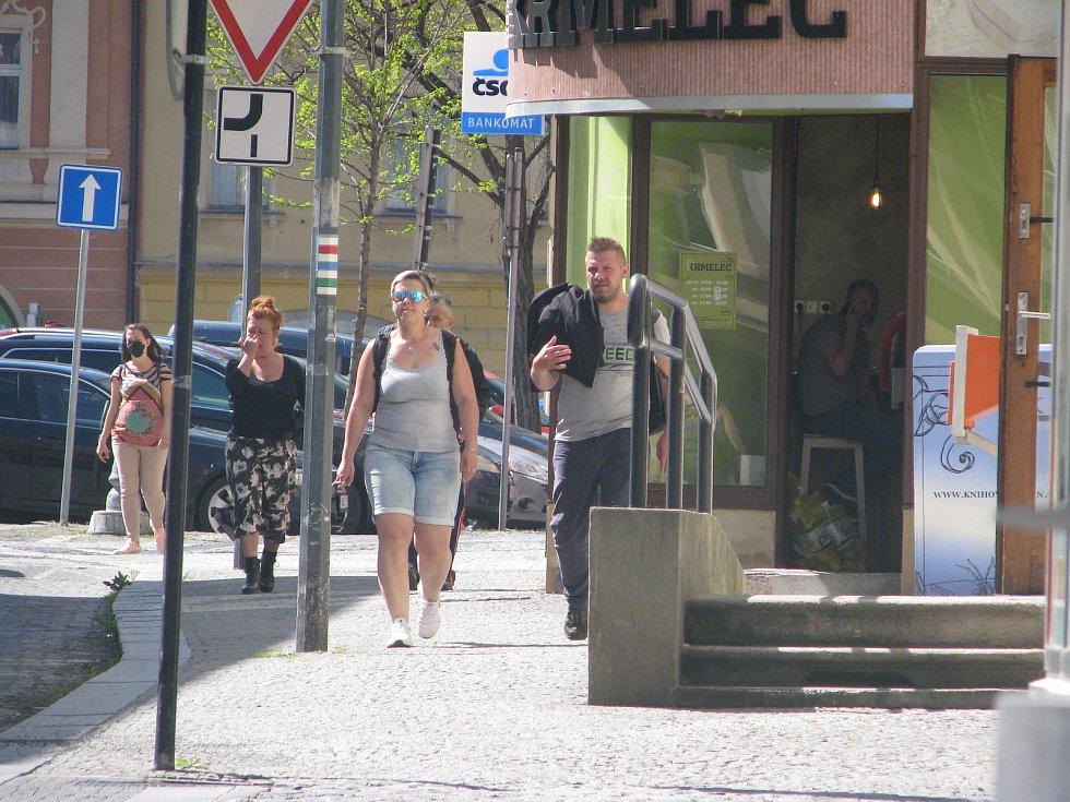 Centrum Kolína v pondělí 10. května odpoledne