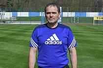 Jiří Kraus na hřišti FK Kolín.