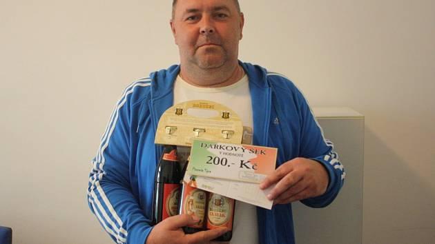 Josef Hykman vyhrál karton piv značky Rohozec, poukázku do pizzerie Týna v hodnotě 200,-Kč a poukázku na cvičení SlimBelly.