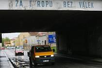 Stav silnic v Českém Brodě.