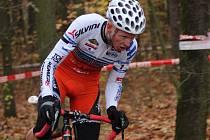 Cyklokrosový Toi Toi Cup vyhrál v Kolíně Nesvadba před Konwou a Paprstkou.
