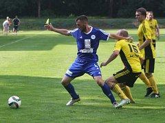 Z utkání prvního kola Mol Cupu FK Kolín - Ústí nad Orlicí (1:3).