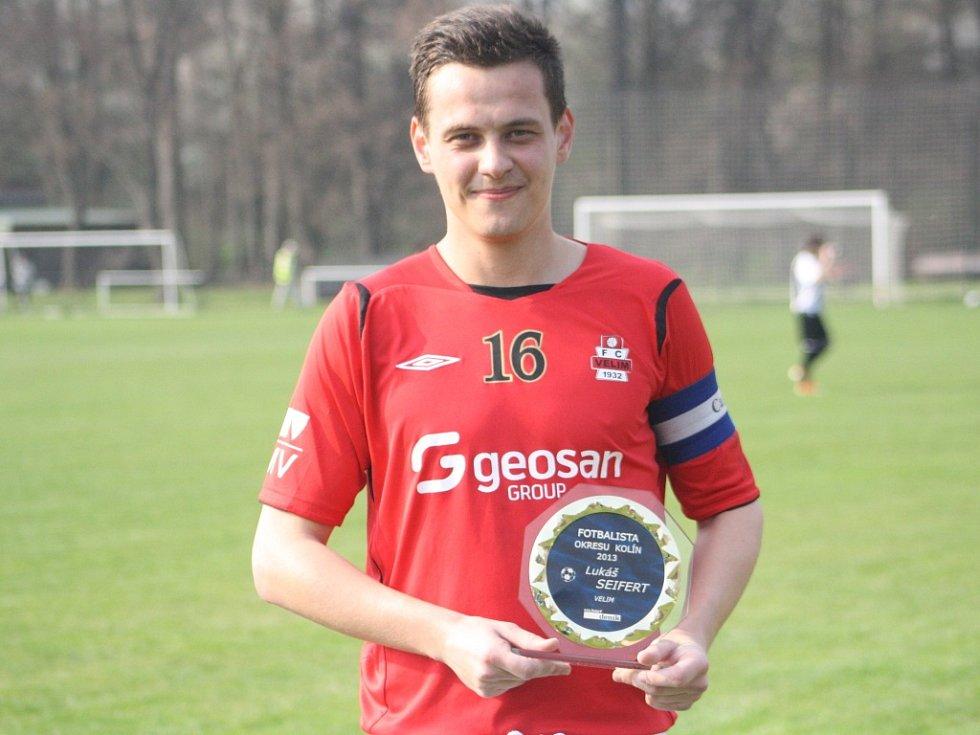 """Vítězem 2. ročníku ankety """"Fotbalista okresu"""" se stal Lukáš Seifert."""
