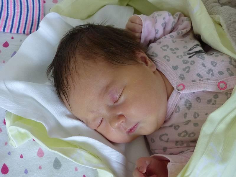 Ella Černíková se narodila 14. září 2021 v kolínské porodnici, vážila 3900 g a měřila 51 cm. Do Hlízova odjela s maminkou Danou a tatínkem Milošem.