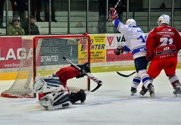Z utkání II. NHL Kolín - Žďár nad Sázavou (5:4).