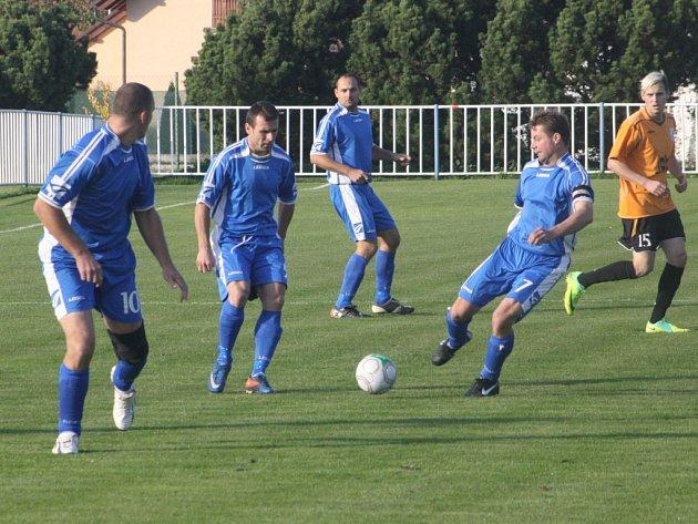 Z utkání Býchory - Tuchoraz (2:1).