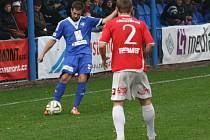 Z utkání FK Kolín - Pardubice (2:4).