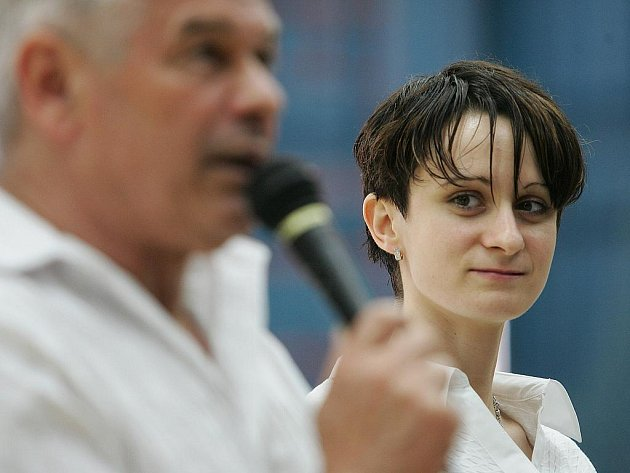 Martina Sáblíková na besedě se studenty
