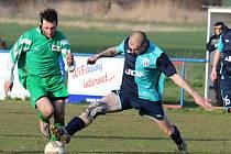 Z utkání fotbalové I. B třídy Liblice - Býchory (0:0).