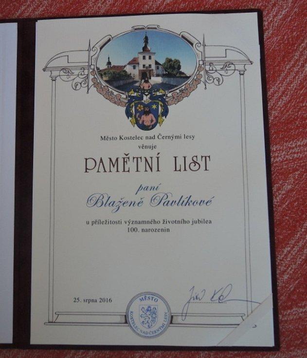Blažena Pavlíková oslavila sté narozeniny