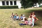 Děti si na táboře Školky v lese, Prostor plus otestovaly své sportovní dovednosti.