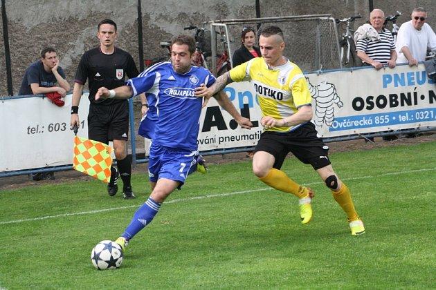 Z utkání FK Kolín - Domažlice (3:0).