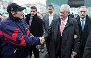 Prezident Miloš Zeman zavítal do svého rodného Kolína.