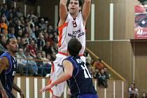 Snímek je z utkání Nový Jičín - BC Kolín.