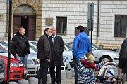 Prezident Miloš Zeman zavítal druhý den své návštěvy Středočeského kraje do Kolína.