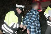 Dopravní nehoda u Modrého bodu v Kolíně, neděle 15. listopadu
