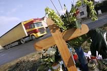 Pietní místo tragické nehody v Nové Vsi I